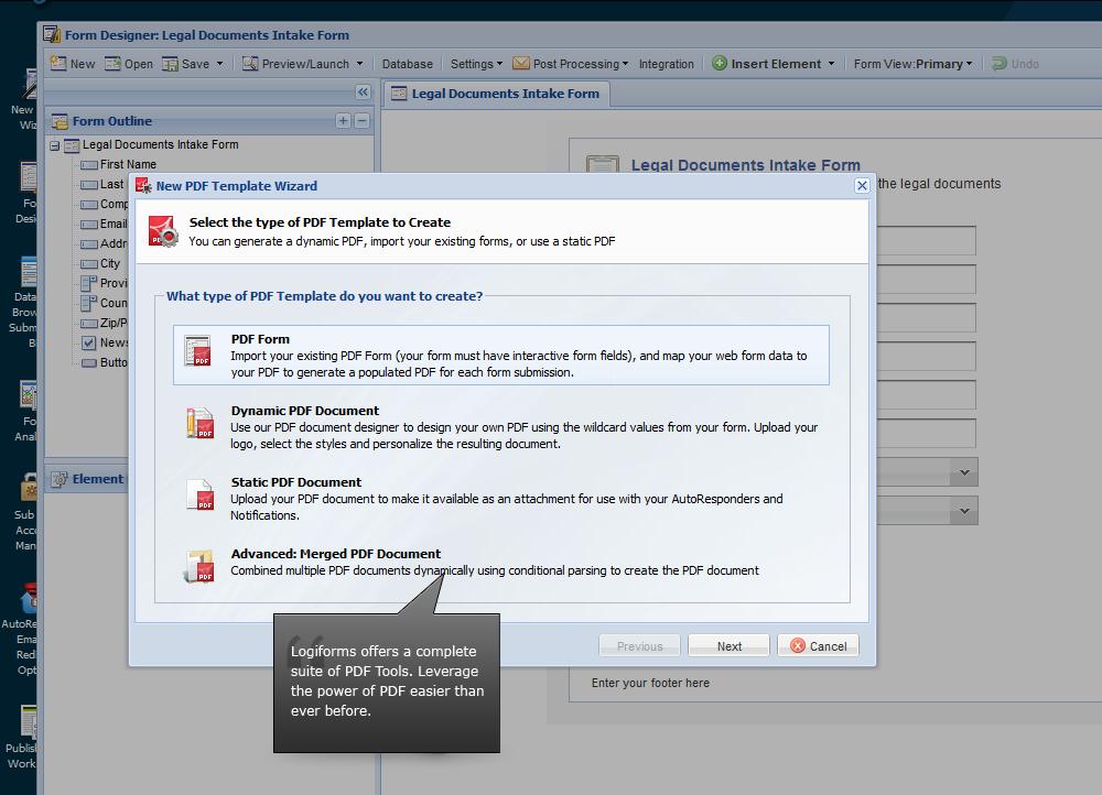 PDF Form Creator | PDF Form Maker | V3.Logiforms.com