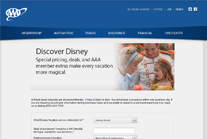 AAA Discover Disney Travel Form