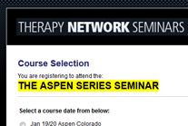 Therapy Network Seminars Event Registration